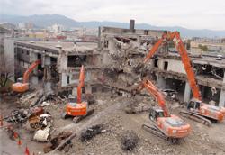 大阪の解体工事現場